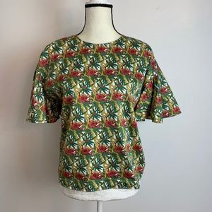 Brookes Brothers Floral Blouse